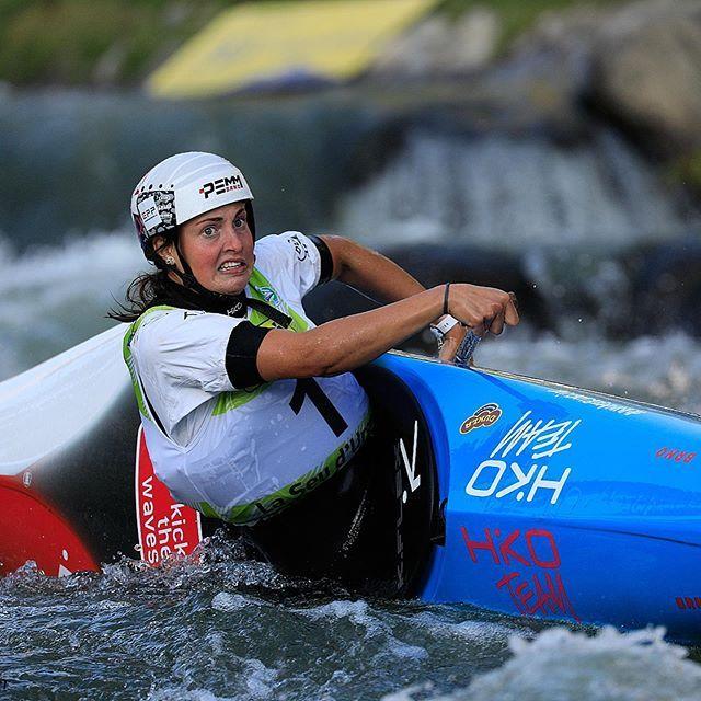 True champions are not afraid to flip their ride on the side! Big congrats to Martina becoming the World Champion!🎉🎉🎉📸 @martin_hladik . . . . . #inwaterwelive #weareoutthere #worldchamp #toomuchspeed #wildwatercanoeing #icfcanoe #czechcanoe #canoe #hikoteam