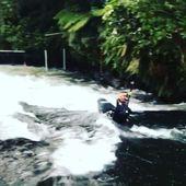 With the selection races going on in New Zealand @instapaddler has Kaituna slalom course all to himself😎 . . . . . . #inwaterwelive #weareoutthere #canoeslalom #winterprep #icfcanoe #planetcanoe #kaituna #kayaking #paddling