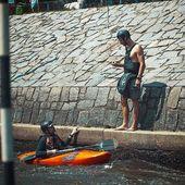 When Vitek sends 👌 your way you must be doing something right. . . . . . . #inwaterwelive #whitewater #whitewaterkempy #weareoutthere #prague #troja #kayakcamp #hikokemp