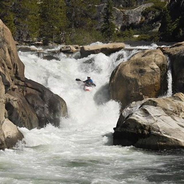 """This is the second major rapid on the trip, not sure if it has a name but it is a awesome warm up to what's downstream"" says @owendoyle__  about this picture from Fantasy Falls. 📷 @wyatt_doyle . . . . . . . #inwaterwelive #weareoutthere #fantasyfalls #california #whitewater #kayaking"