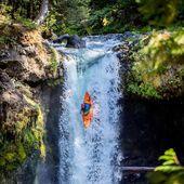 Art of waterfallin' by @boofstroke. . . . . . . #inwaterwelive #whitewater #kayaking #weareoutthere #waterfall