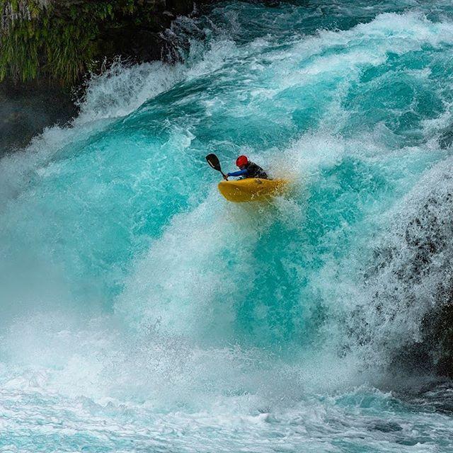 So blue...so savage😈One mean-lookin' angle of Huka Falls. 📸 @rod_coffee #inwaterwelive . . . . #weareoutthere #hikoteam #hukafalls #newzealand #waikatoriver
