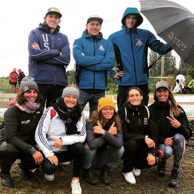 Meet the Hiko World Cup crew for 2019 minus @vitprindis and Boris Neveu who are hiding from the London weather. #inwaterwelive to the fullest extend. . . . . . . #canoeslalom #icfcanoe #planetcanoe #weareoutthere #leevalley #london #englishweather #worldcup2019