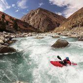 Martin Bouzek on the Thuli Bheri in Dolpo Himalaya. . . . . . . . #inwaterwelive #nepal #weareoutthere #whitewater #kayaking #himalayas #kayaknepal #dolponepal #thulibheri